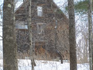New England barn in winter
