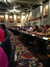 The floor of the House of Delegates, 140 members strong!