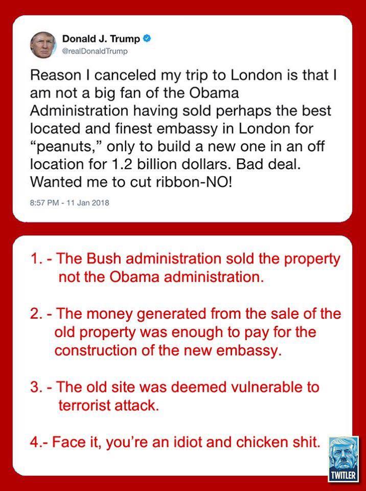 London Embassy Tweet