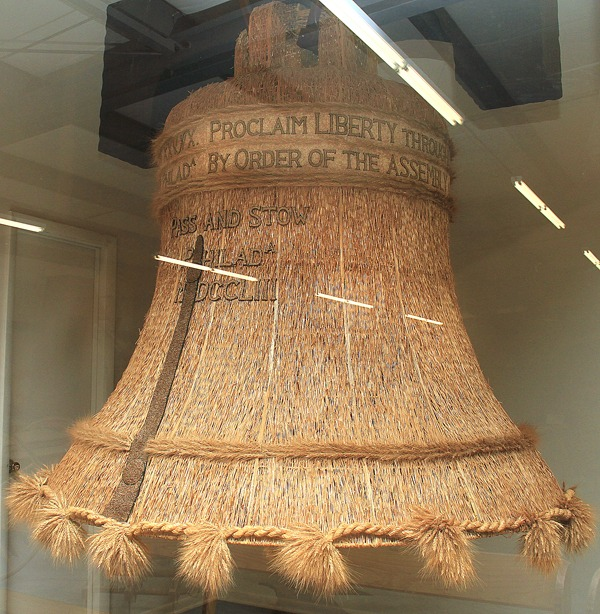 This is a side view of the replica Liberty Bell mostly made from wheat. Wendy Nugent / The Edge
