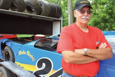 ?The competitiveness, the different relationships ? yeah, we compete with each other, but we?re also willing to help one another,? Blocher says about dirt racing. ?I like working on (the cars) and the speed.? Wendy Nugent / The Edge