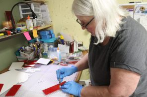 Halstead woman crafts with glass