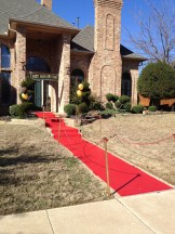 The red carpet takes shape!