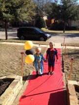My babies walking the carpet (they thought they were getting married).