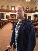 Yours truly standing in the State House in Austin.