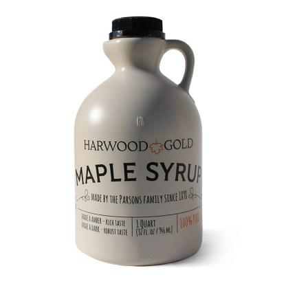 Harwood Gold maple syrup quart