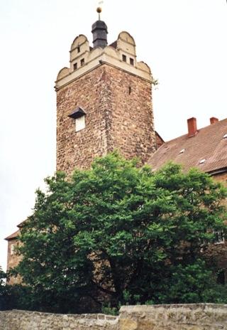 Bild: Bergfried des Schlosses zu Allstedt.
