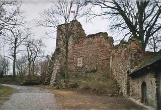 Bild: Reste der alten Burg zu Friedeburg an der Saale.