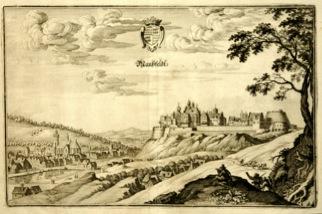 Bild: Mansfeld im Jahre 1650. Stich von Matthäus Merian. Dieses Bild ist gemeinfrei, weil seine urheberrechtliche Schutzfrist abgelaufen ist.