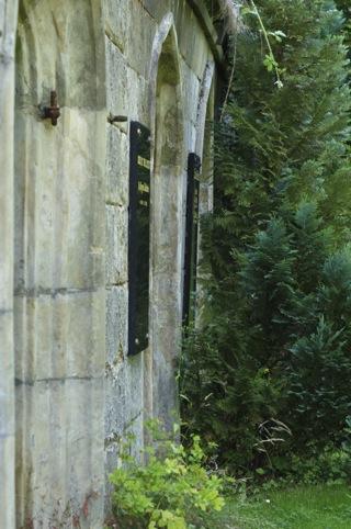 Bild: Gruft auf dem Servatifriedhof zu Quedlinburg