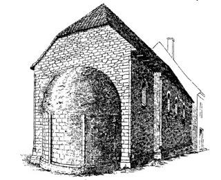 Bild: Die alte Kirche des Schlosses zu Seeburg. Dieses Bild ist gemeinfrei, weil seine urheberrechtliche Schutzfrist abgelaufen ist.