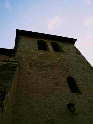 Bild: Die Kirche St. Margarethen zu Aschersleben. Blick auf die Westseite des Turmes.