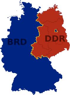 Bild: Verlauf der innerdeutschen Grenze zwischen der BRD sowie Westberlin und der DDR. Bild: This file is licensed under the Creative Commons Attribution-Share Alike 3.0 Germany license. Urheber ist David Liuzzo.
