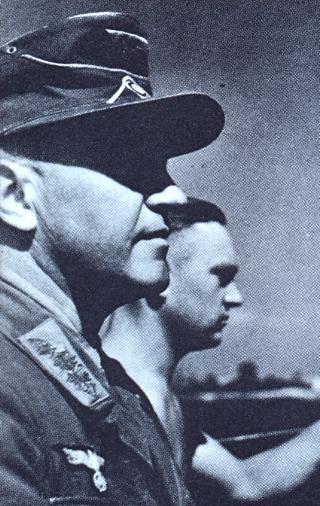 Bild: General Friedrich-Wilhelm Müller - der eigentlich an Stelle des Generals Heinrich Kreipe auf der Insel Kreta vom SOE entführt werden sollte. Dieses Bild ist gemeinfrei, weil seine urheberrechtliche Schutzfrist abgelaufen ist.