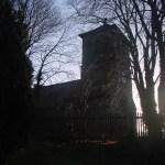 Harkerode -Morgenstimmung an der Kirche.