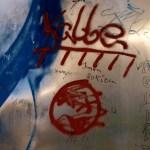 Bild: Eisleben - Graffiti am DENKMAL HUNT, STOLLN UND GRUBENPFERD.