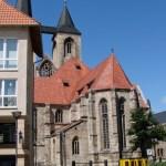 Bild: Blick auf die Martinikirche zu Halberstadt.