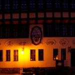 Bild: Stolberg - Rathaus bei Nacht.
