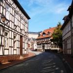 Bild: Stolberg - Blick durch die Gassen zum Schloss.