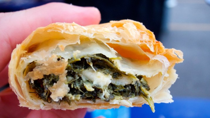 Cheese and spinach savory pastry