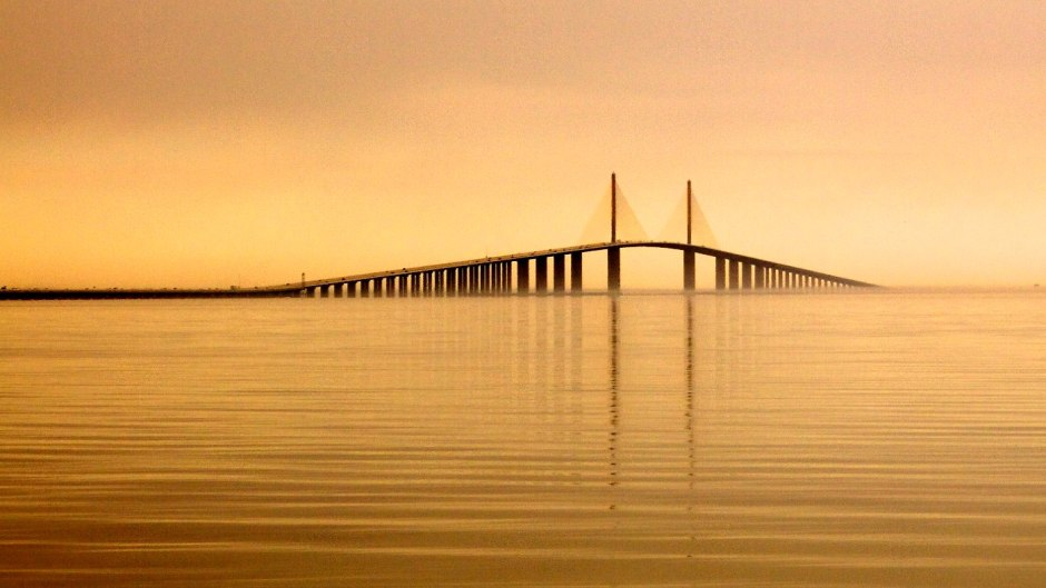The Sunshine Skyway Bridge from the south.