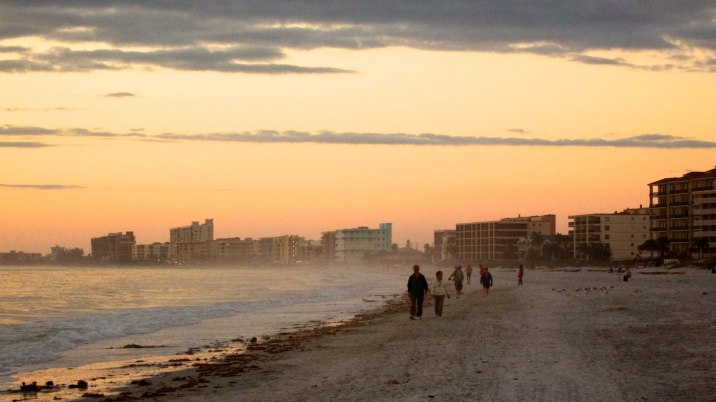 Looking north to Madeira Beach from John's Pass.
