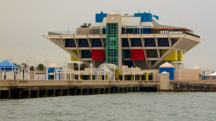 The St. Petersburg Pier sits empty and ready for demolition.