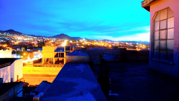 I wish sunset would last longer than the hour it gives me to enjoy this view of Parral.