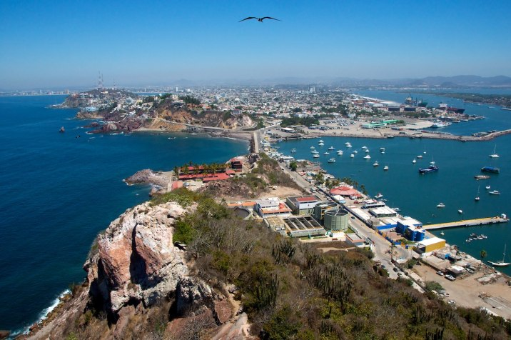 A view of Mazatlán and the harbor.