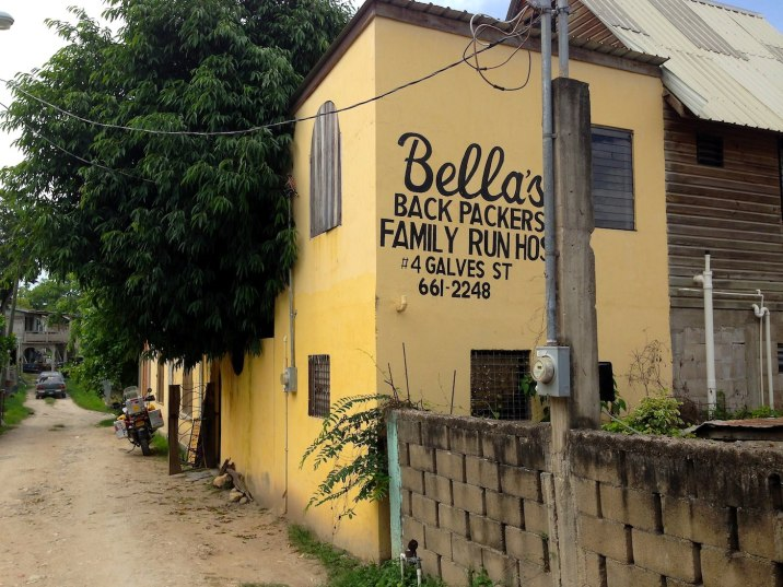 I find refuge before the rains hit at Bella's Backpacker's Hostel in San Ignacio.