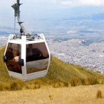 The easiest way to see Quito from above is to ride the cable car.