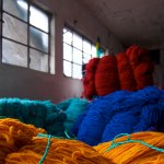 The yarn is woven into clothes and sold at markets all over Ecuador.