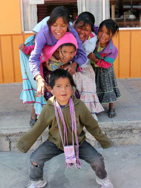 Tarahumara children - photo courtesy Katie Harrelson and Jim Harrelson