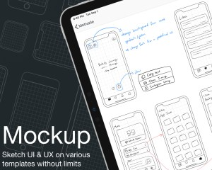 I launched Mockup, an app for UI & UX sketching