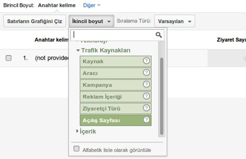 google_analytics_not_provided_ikincil_boyut