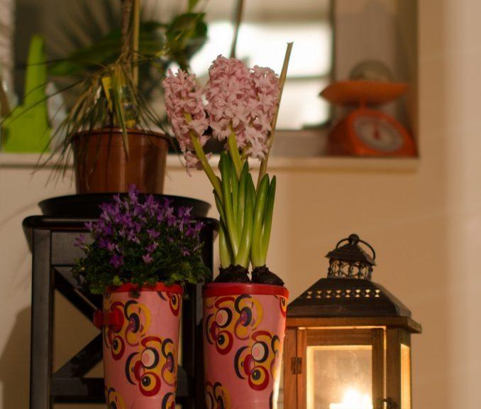 Gummistiefel DIY Blumen