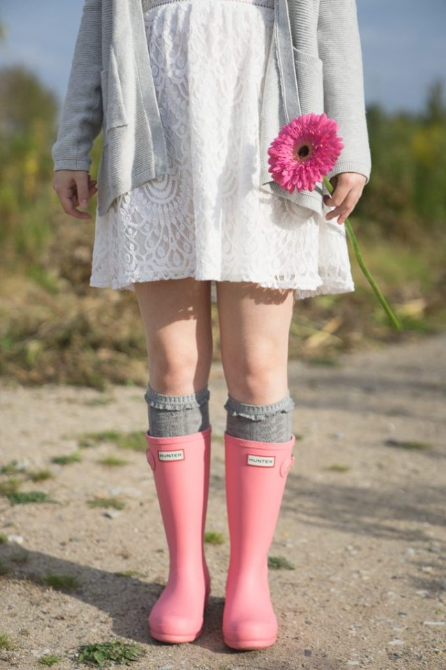Hunter Kids Gummistiefel Outfit Herbst