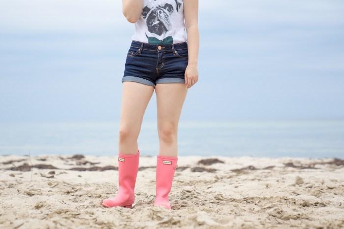 Gummistiefel im Sommer Hunter Strand