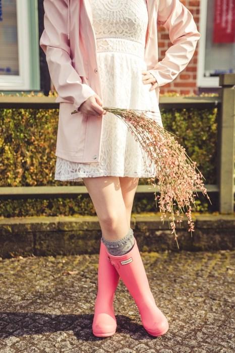 Gummistiefel Frühling Hunter rosa 3