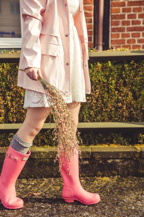 Gummistiefel Frühling Hunter rosa