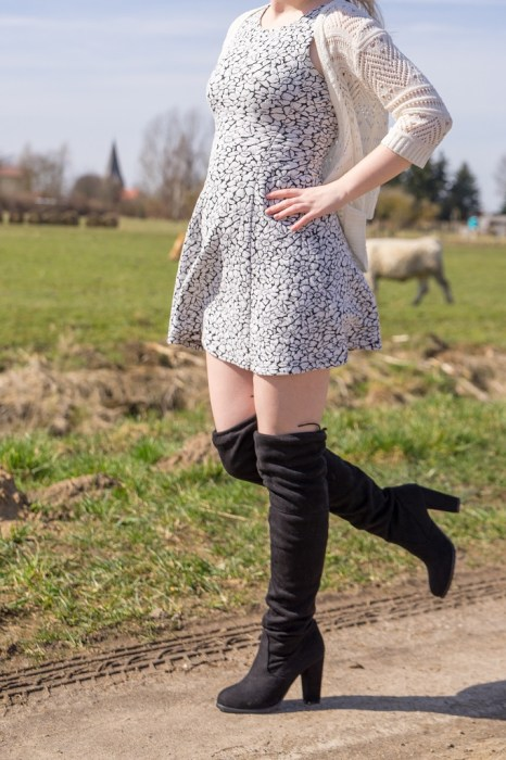 Overknee Stiefel Outfit Frühling 8