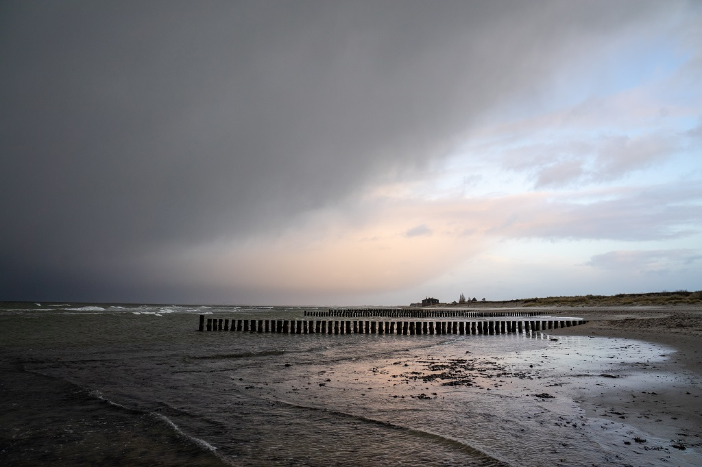 Heiligenhafen Ostsee Strand Orkan