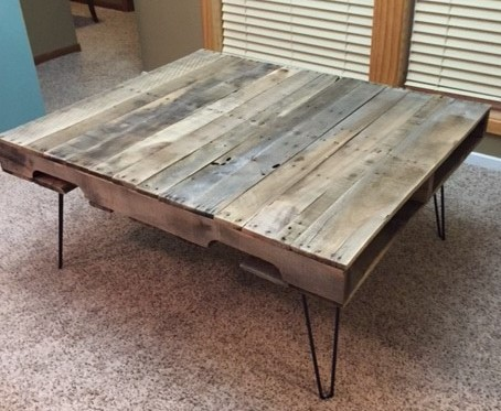 Pallet Table Angle