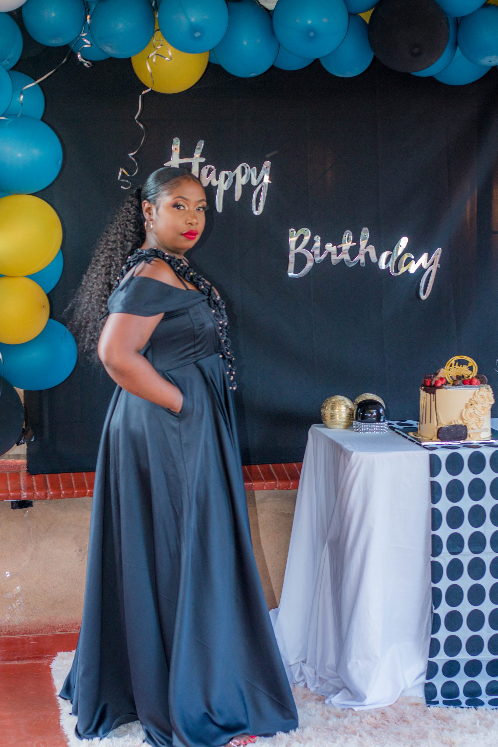 Cynthia Dresses herself for her birthday party