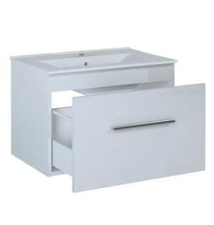szafka z umywalką biała 1 szuflada
