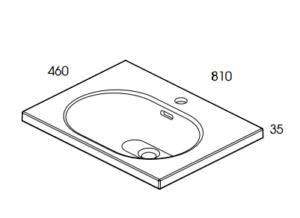 rozmiar umywalka ceramiczna idea 80 elita