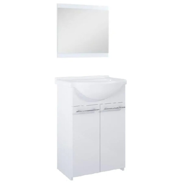 szafka łazienkowa 55 cm z lustrem