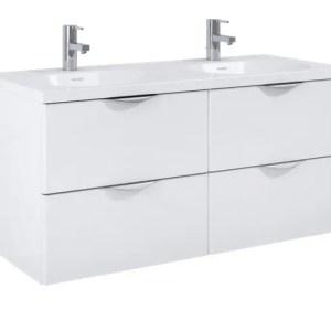 szafka z umywalka ambio 120 podwieszana white biala elita