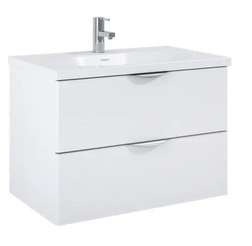 szafka z umywalka ambio 80 podwieszana white biala elita