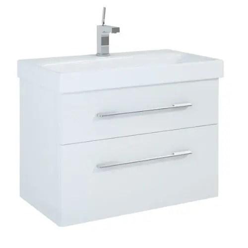 szafka z umywalka baracelona 80 biala lakier polysk white elita